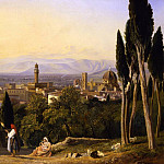 часть 5 -- European art Европейская живопись - William James MГјller View of Florence and the River Arno from St Miniato 36736 184