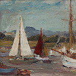 часть 5 -- European art Европейская живопись - Ronald Ossory Dunlop Boats at Itchenor near Chichester 15958 1184
