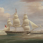 часть 5 -- European art Европейская живопись - William John Huggins The Hon East India Co ship Inglis in two positions off Dover 99039 20