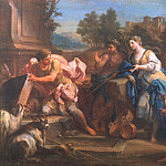 часть 5 -- European art Европейская живопись - SEBASTIANO CONCA Jacob and Rachel at the Well 32845 1765