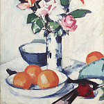 часть 5 -- European art Европейская живопись - Samuel John Peploe Still life of roses and oranges 28516 20