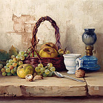 часть 5 -- European art Европейская живопись - Robert Chailloux Still Life with Basket of Fruit 11982 2426