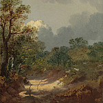 Thomas Gainsborough Wooded landscape with shepherd resting by a sunlit track 28303 20, Thomas Gainsborough