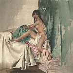 Sir William Russell Flint Dryad in Pigtails 28277 20, Sir William Russell Flint