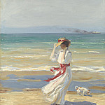 Sir John Lavery A windy day 112419 20, Sir John Lavery