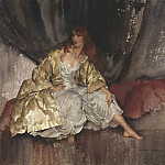 Sir William Russell Flint Barefoot girl in a gold coat 28274 20, Sir William Russell Flint