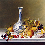 Roy Hodrien Still Life with Ming Vase & Fruit on Marble 12118 2426, Li Ming