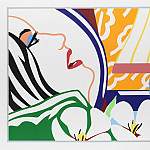 часть 5 -- European art Европейская живопись - TOM WESSELMANN Bedroom face with orange wallpaper 120514 1184