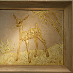 часть 5 -- European art Европейская живопись - Thierry Van Ryswyck Deer in a landscape Panel 64 x 74 cm 16129 118