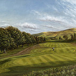 часть 5 -- European art Европейская живопись - Roy Hodrien Gleneagles The Kings Course 10th Hole Canty Lye 18916 2426