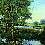Wilfred Gabriel De Glehn Wormingford Mill Pond 16498 1184, Wilfred Gabrial De Glehn