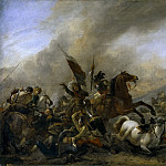 Wouwerman, Philips -- Refriega entre tropas enemigas, Part 6 Prado Museum