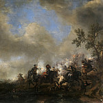 Wouwerman, Philips -- Choque de caballería, Part 6 Prado Museum
