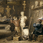 Teniers, David -- El mono escultor, Part 6 Prado Museum