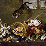 Vos, Paul de -- Pelea de gatos en una despensa, Part 6 Prado Museum
