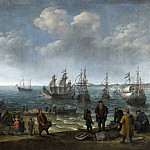 Willaerts, Adam -- Playa con pescadores, Part 6 Prado Museum