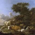 384... Klomp, Albert Jansz. -- Landschap met vee, 1640-1688, Rijksmuseum: part 4