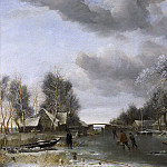 Wintergezicht, 1652-1653, van de Jan Capelle