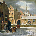 Laan, Dirk Jan van der -- Stadsgezicht in de winter, 1790-1813, Rijksmuseum: part 4