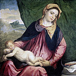 Bordone, Paris -- Madonna met slapend kind, 1540-1560, Rijksmuseum: part 4