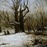 Winterlandschap, 1850-1877, Gustave Courbet