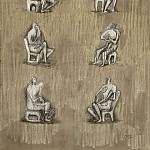 часть 2 -- European art Европейская живопись - Henry Moore Ideas for Sculpture Seated figures 36975 20