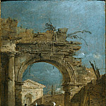 FRANCESCO GUARDI Capriccio with a Large Arch and a Temple Beyoung 38541 316, Франческо Гварди