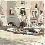 часть 2 -- European art Европейская живопись - Edward Seago A continental harbour scene 30195 20