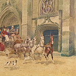 часть 2 -- European art Европейская живопись - Georges Louis Charles BUSSON Coach to the Fair 90019 121