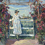 часть 2 -- European art Европейская живопись - Edgard WIETHASE Young woman in the rose garden 38557 617