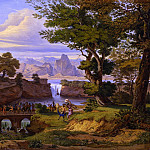 часть 2 -- European art Европейская живопись - EMIL LUDWIG LГ–HR Italianate landscape with the Triumph of Silenus 32227 172