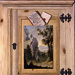 часть 2 -- European art Европейская живопись - GERMAN SCHOOL A trompe l'oeil of a painting pinned to a cabinet door 29892 172