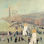 часть 2 -- European art Европейская живопись - Helen Bradley Our First Morning in Blackpool 97899 20