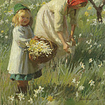 часть 2 -- European art Европейская живопись - Harold Harvey Spring in the orchard narcissus 28333 20