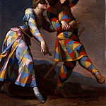 часть 2 -- European art Европейская живопись - Giovanni Domenico Ferretti Harlequin and his Lady 16965 203