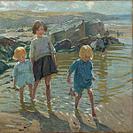 часть 2 -- European art Европейская живопись - Dorothea Sharp Children on a beach 100219 20