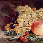 часть 2 -- European art Европейская живопись - George Lance Still Life with Fruit on a Table 12137 2426