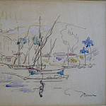часть 2 -- European art Европейская живопись - Henri PERSON Baie de Saint Tropez 39067 3449