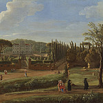 часть 2 -- European art Европейская живопись - Gaspar van Wittel A view of the Villa Aldobrandini from the Piazza Municipale at Frascati 100499 20
