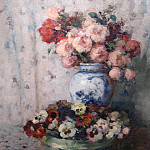 часть 2 -- European art Европейская живопись - Fernand TOUSSAINT Still life of flowers 41286 617
