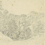 часть 2 -- European art Европейская живопись - Heinrich Reinhold An Italian Landscape View from Olevano toward Civitella 1822 122567 1124