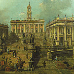 GIOVANNI ANTONIO CANAL IL CANALETTO View of Rome The Piazza del Campidoglio and the Cordonata 33385 316, Antonio Campi