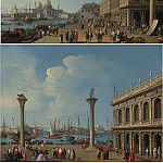 часть 2 -- European art Европейская живопись - Giovanni Battista Cimaroli A view from the Piazetta Venice A view of the Molo Venice