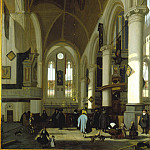 часть 2 -- European art Европейская живопись - Emanuel de Witte The Interior of the Oude Kerk Amsterdam 27601 276