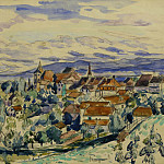 часть 2 -- European art Европейская живопись - Henri MANGUIN Le village Colombier 122562 3449