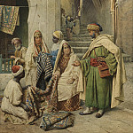 часть 2 -- European art Европейская живопись - Filippo Bartolini Visiting the Carpet Vendor 91739 3606