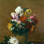 часть 2 -- European art Европейская живопись - Henri FANTIN LATOUR Grand bouquet de chrysanthГЁmes 41081 1146