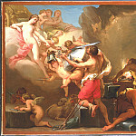 "часть 2 -- European art Европейская живопись - GAETANO GANDOLFI ""Venus in Vulcan's forge"""