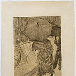 часть 2 -- European art Европейская живопись - Edgar Degas On the Street in the Rain 58359 1124