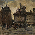 часть 2 -- European art Европейская живопись - Henri LOGELAIN Place du Grand Sablon in Brussels 90028 121